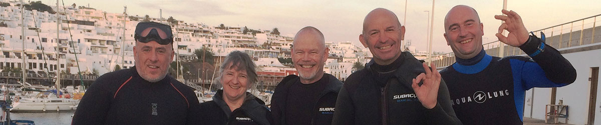 Group diving with Island Watersports Lanzarote